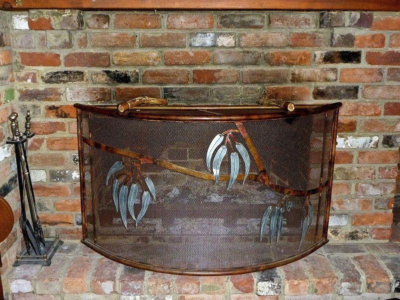 rustic firescreen